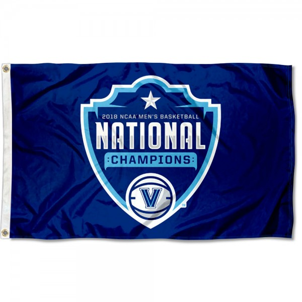 Court and Locker Room Logo National Champs Villanova Wildcats 3x5 Foot Flag