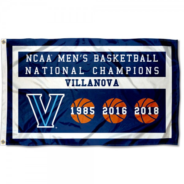 3-Times NCAA Basketball Champions Villanova Wildcats 3x5 Foot Flag