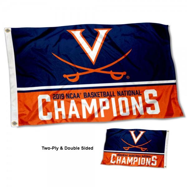UVA Cavaliers Two Sided Baskeball 2019 National Champions 3x5 Foot Flag