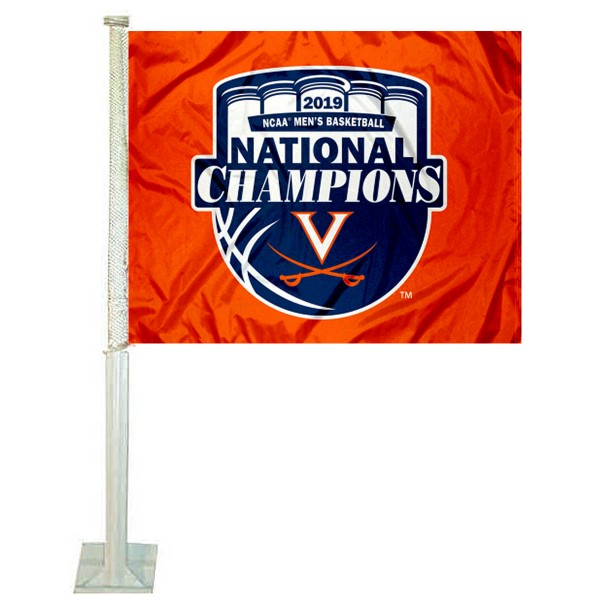 University of Virginia 2019 NCAA Basketball Champions Car Flag