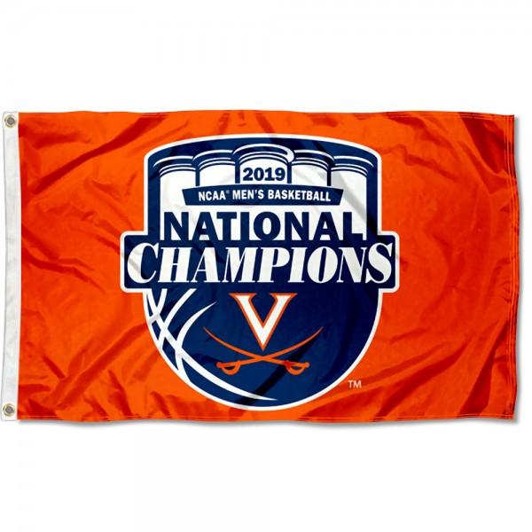 2019 Orange Final Four Champions Virginia Cavaliers 3x5 Foot Flag