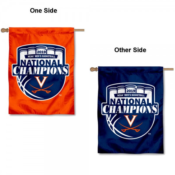 University of Virginia 2019 National Champions Logo House Flag