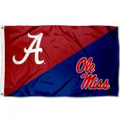 House Divided Flag - Crimson Tide vs Ole Miss