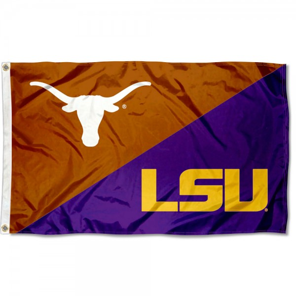House Divided Flag - Longhorns vs LSU Tigers