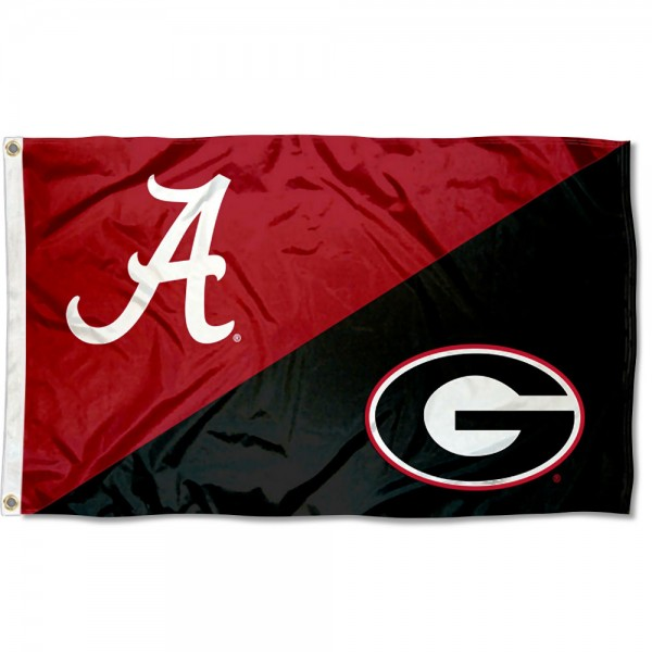 House Divided Flag - Crimson Tide vs Bulldogs