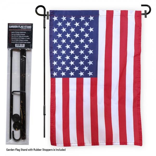 American Garden Flag and Holder