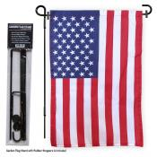 American Garden Flag and Holder
