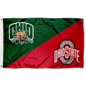 House Divided Flag - Bobcats vs Buckeyes