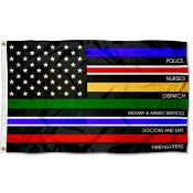 Essential Workers Thin Line 3x5 Foot Flag