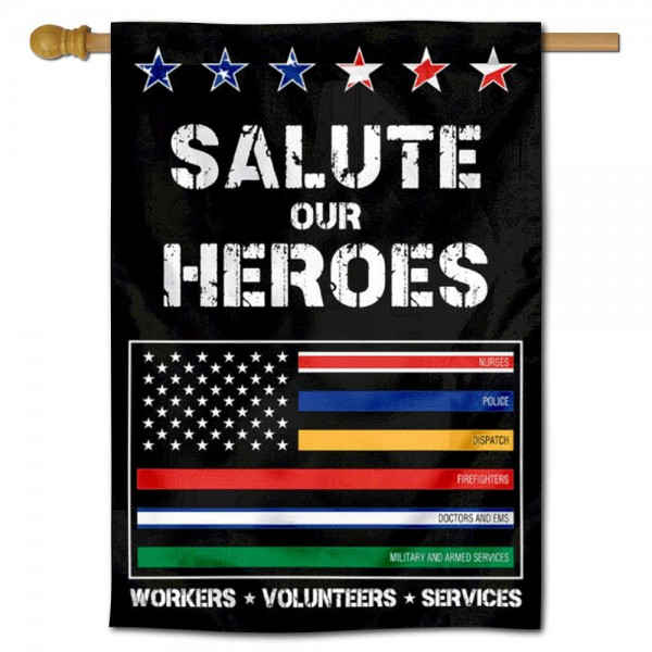 Essential Services Thin Line Heroes House Flag