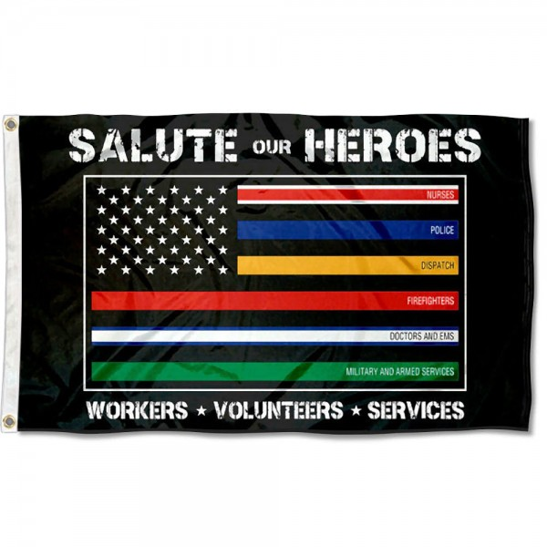 Salute Heroes Essential Workers 3x5 Flag