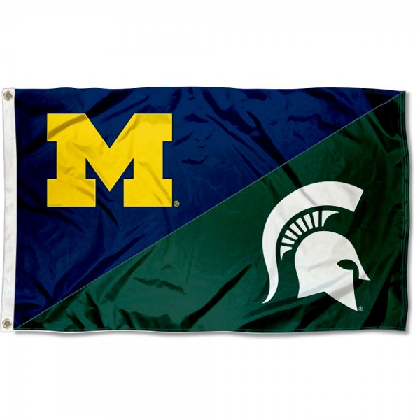 House Divided Flag - Wolverines vs Spartans