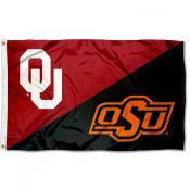 House Divided Flag - OU Sooners vs OSU Cowboys