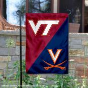House Divided Garden Flag - Hokies vs Cavaliers Frogs