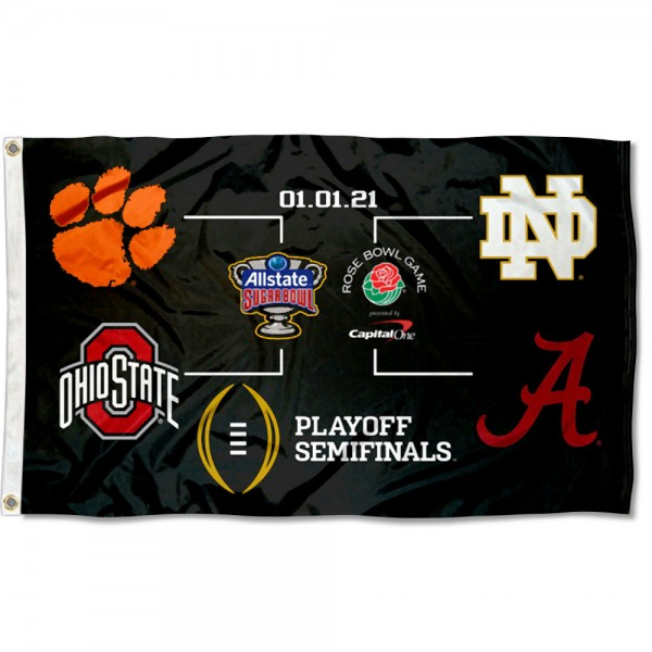 College Football Playoff 2020 Bracket 3x5 Foot Flag
