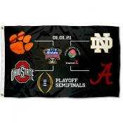 College Football Playoff 2020 Bracket 3x5 Foot Flag