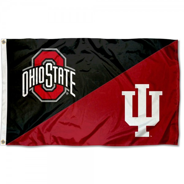 House Divided Flag - OSU Buckeyes vs IU Hoosiers