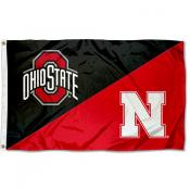 House Divided Flag - Buckeyes vs Cornhuskers