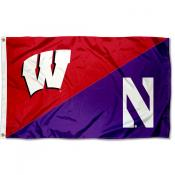 House Divided Flag - Badgers vs Wildcats