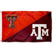 House Divided Flag - Red Raiders vs Aggies