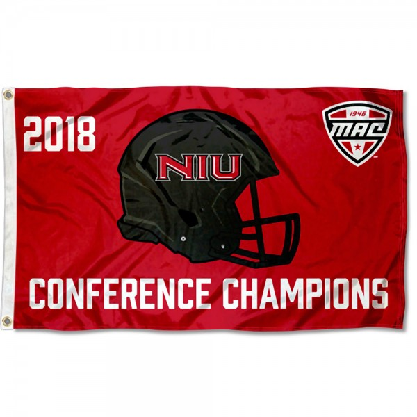 2018 MAC Football Champions NIU Huskies 3x5 Foot Flag