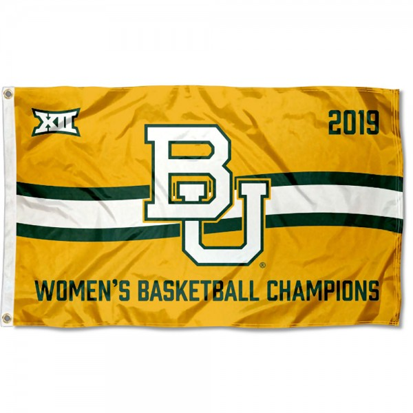 2019 Big 12 Womens Basketball Champions Baylor University Flag