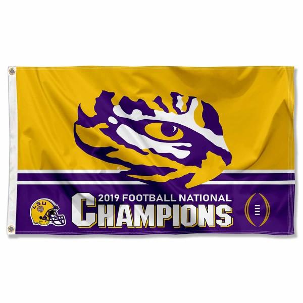 2020 2019 National Champions LSU Tigers 3x5 Foot Flag