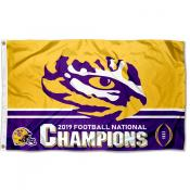 2020 2019 National Champions LSU Tigers 3x5 Foot Flag