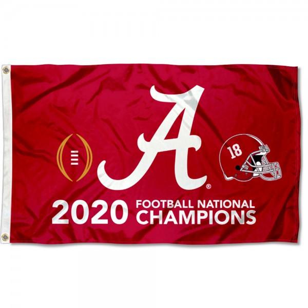 2020 National Champions Alabama Crimson Tide 3x5 Foot Flag