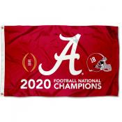 2020 National Champions Alabama Crimson Tide 3x5 Foot Flag
