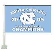UNC Tar Heels 2009 Final Four Champs Car Flag