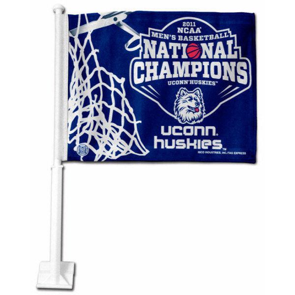 UConn 2011 National Champions Car Flag