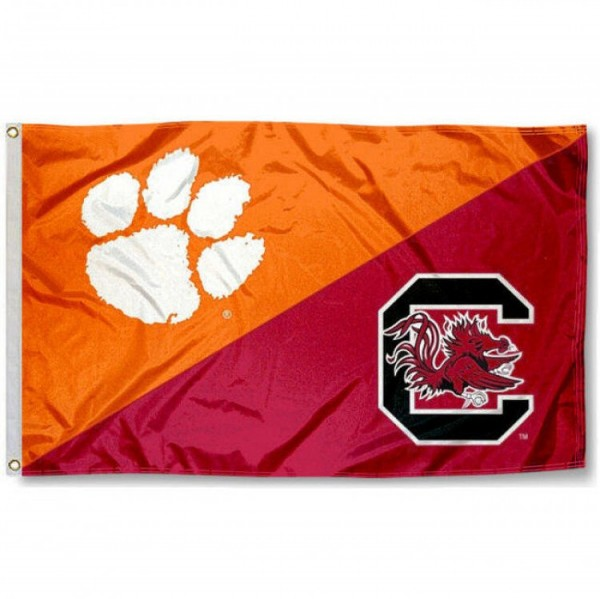 House Divided Flag - Clemson vs. South Carolina