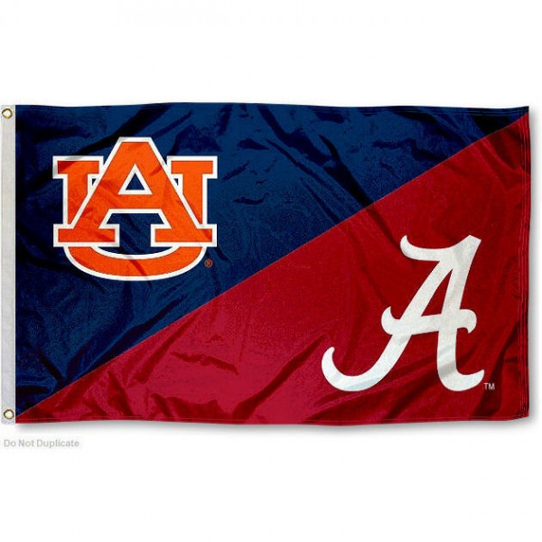 House Divided Flag - Alabama vs. Auburn