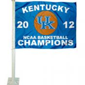 Kentucky Wildcats 2012 National Champs Car Flag