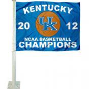 Kentucky Wildcats 2012 National Champs Car Flag