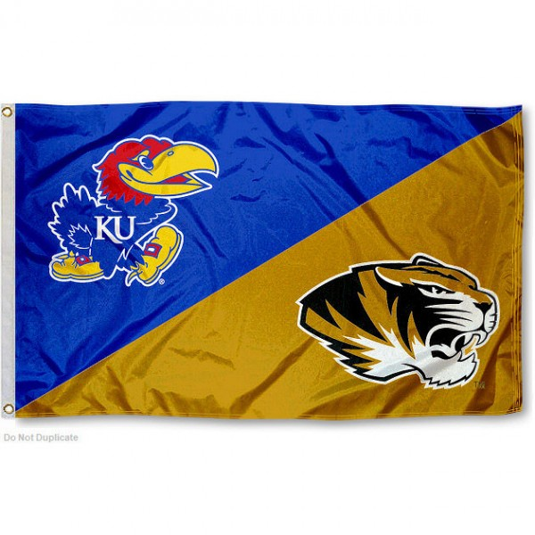 House Divided Flag - KU vs. Mizzou