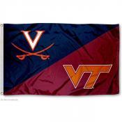 House Divided Flag - Virginia vs. Virginia Tech