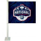 Connecticut Huskies 2014 National Champs Car Flag