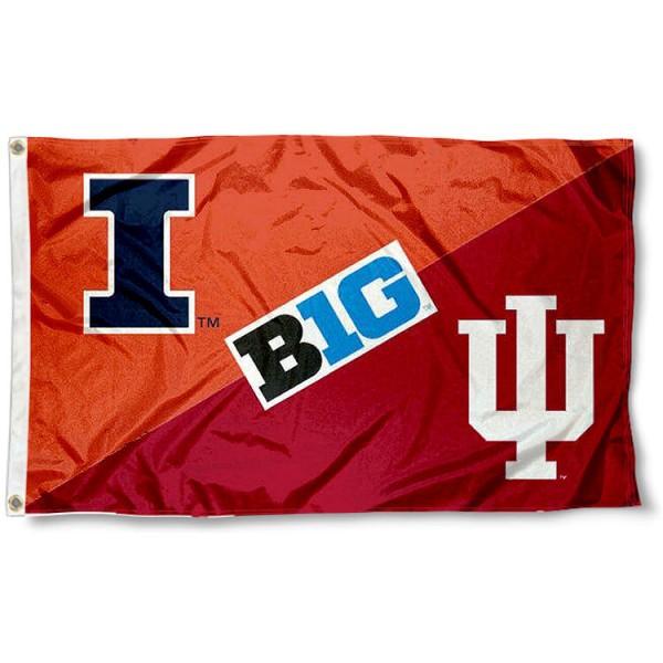 House Divided Flag - Illinois vs. Indiana