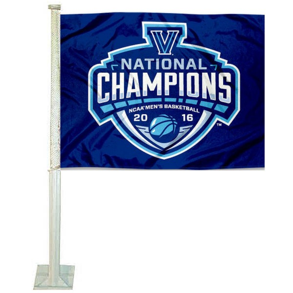 Villanova Wildcats 2016 Champions Car Flag