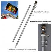 Aluminum 6' Flagpole - Heavy Duty