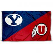 House Divided Flag - BYU vs. Utah Utes