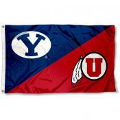 House Divided Flag - BYU vs. Utah Utes