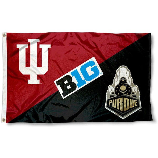 House Divided Flag - IU Hoosiers vs. Purdue Boilers