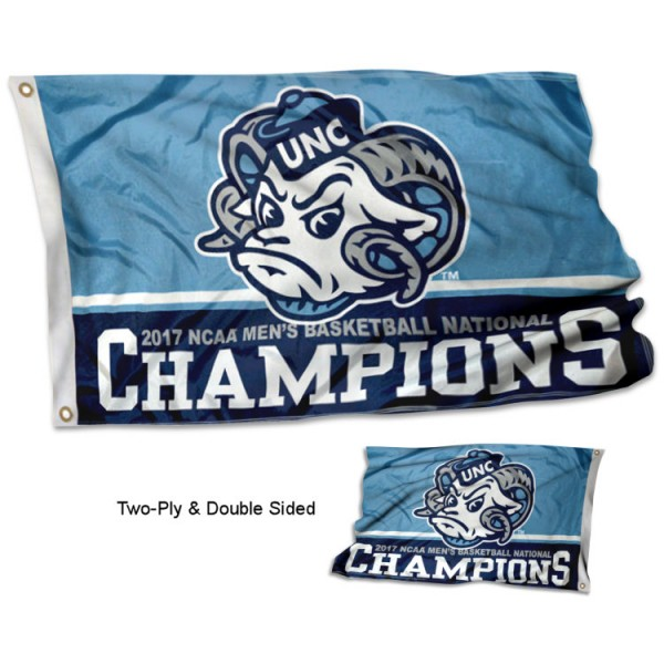 UNC Tar Heels Basketball Champions 2-Sided Flag