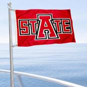 A State Red Wolves Boat Nautical Flag