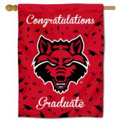 A State Red Wolves Graduation Banner