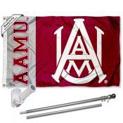 AAMU Bulldogs Flag and Bracket Flagpole Kit