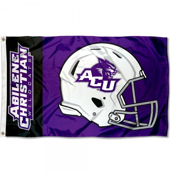 Abilene Christian Wildcats Helmet Flag